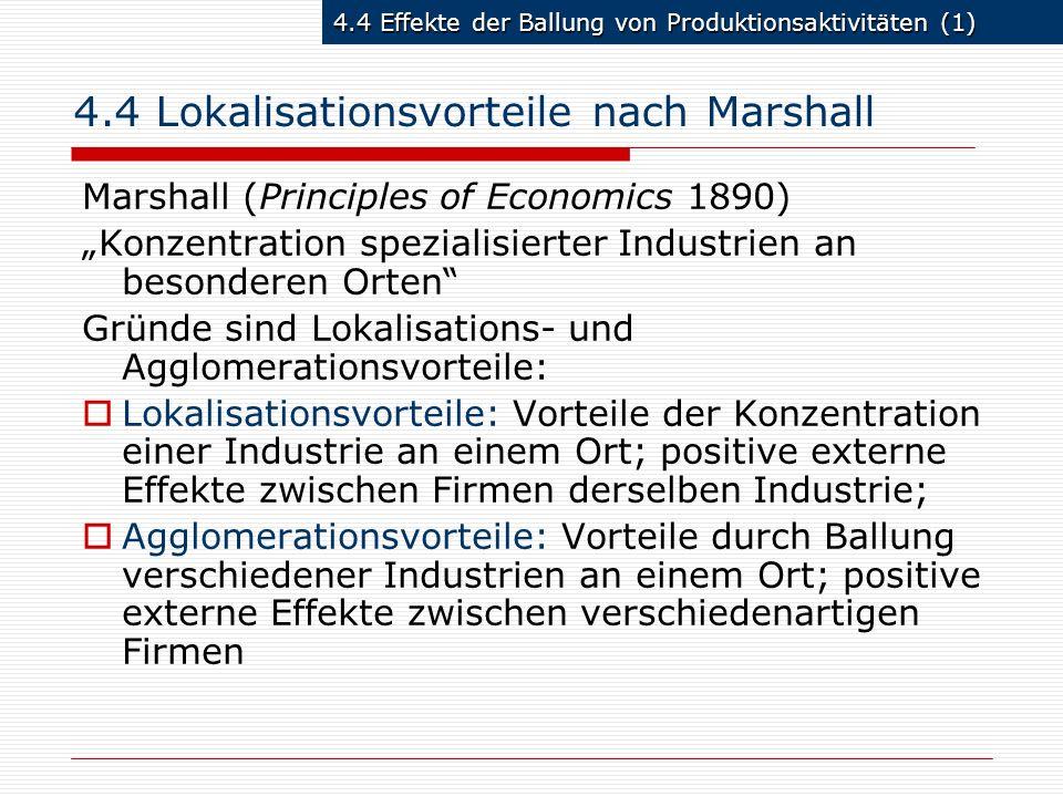 4.4 Lokalisationsvorteile nach Marshall