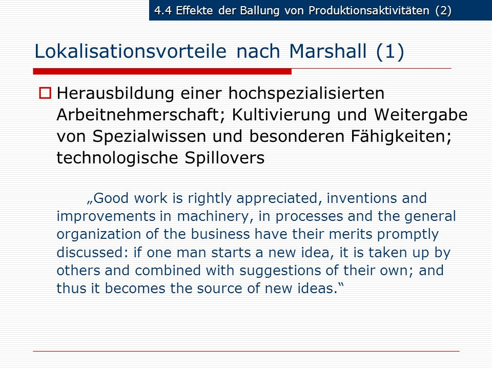 Lokalisationsvorteile nach Marshall (1)