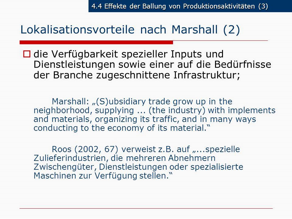 Lokalisationsvorteile nach Marshall (2)