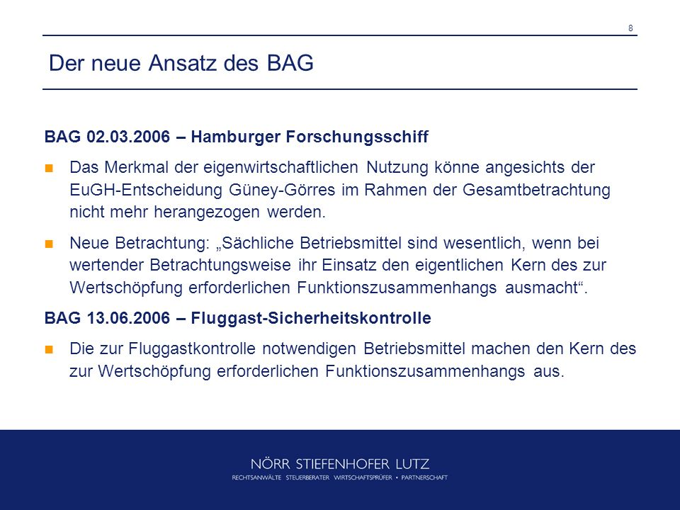Der neue Ansatz des BAG BAG 02.03.2006 – Hamburger Forschungsschiff