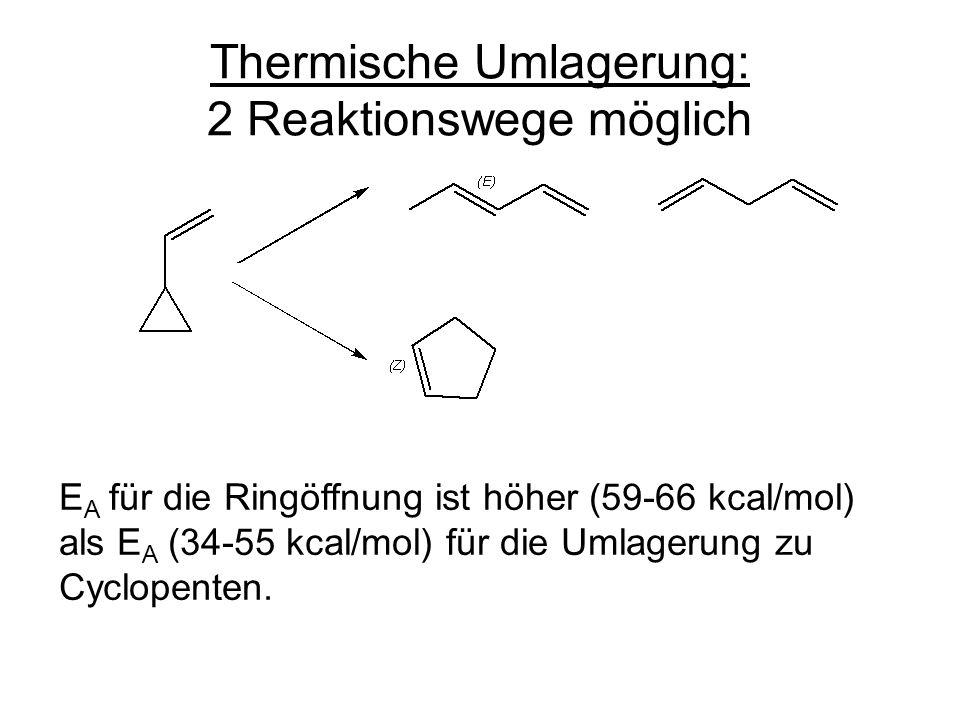 Thermische Umlagerung: 2 Reaktionswege möglich
