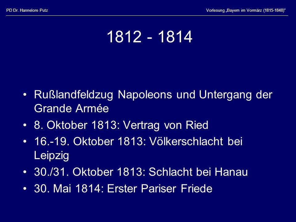 1812 - 1814 Rußlandfeldzug Napoleons und Untergang der Grande Armée