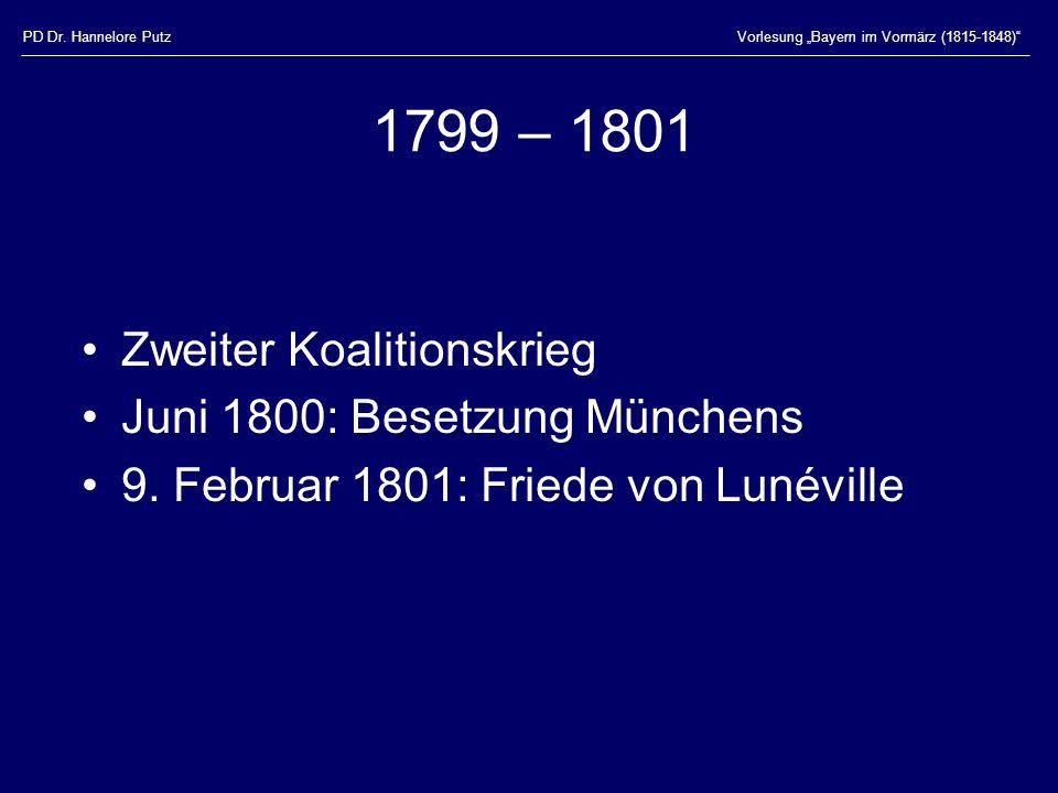 1799 – 1801 Zweiter Koalitionskrieg Juni 1800: Besetzung Münchens