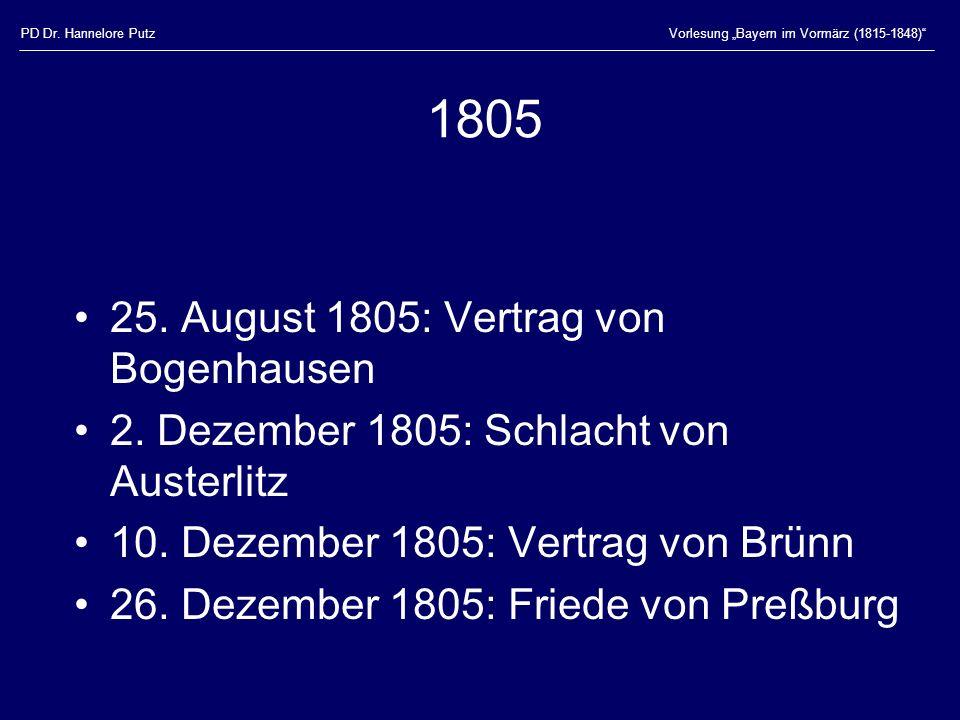 1805 25. August 1805: Vertrag von Bogenhausen