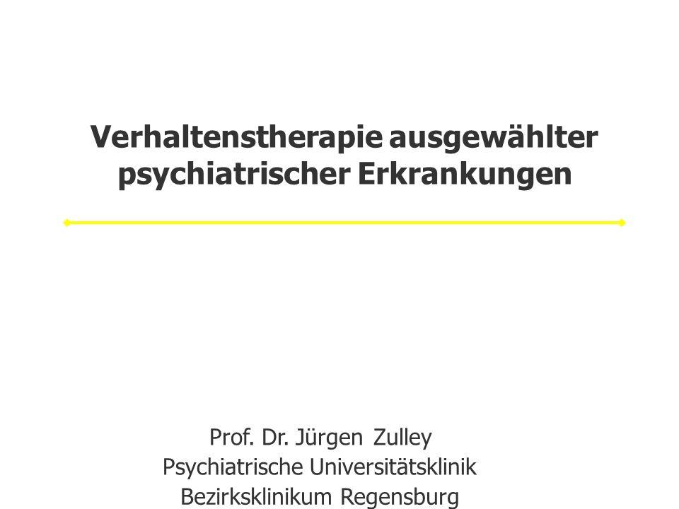 Verhaltenstherapie ausgewählter psychiatrischer Erkrankungen