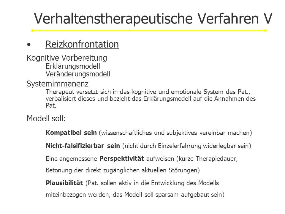 Verhaltenstherapeutische Verfahren V