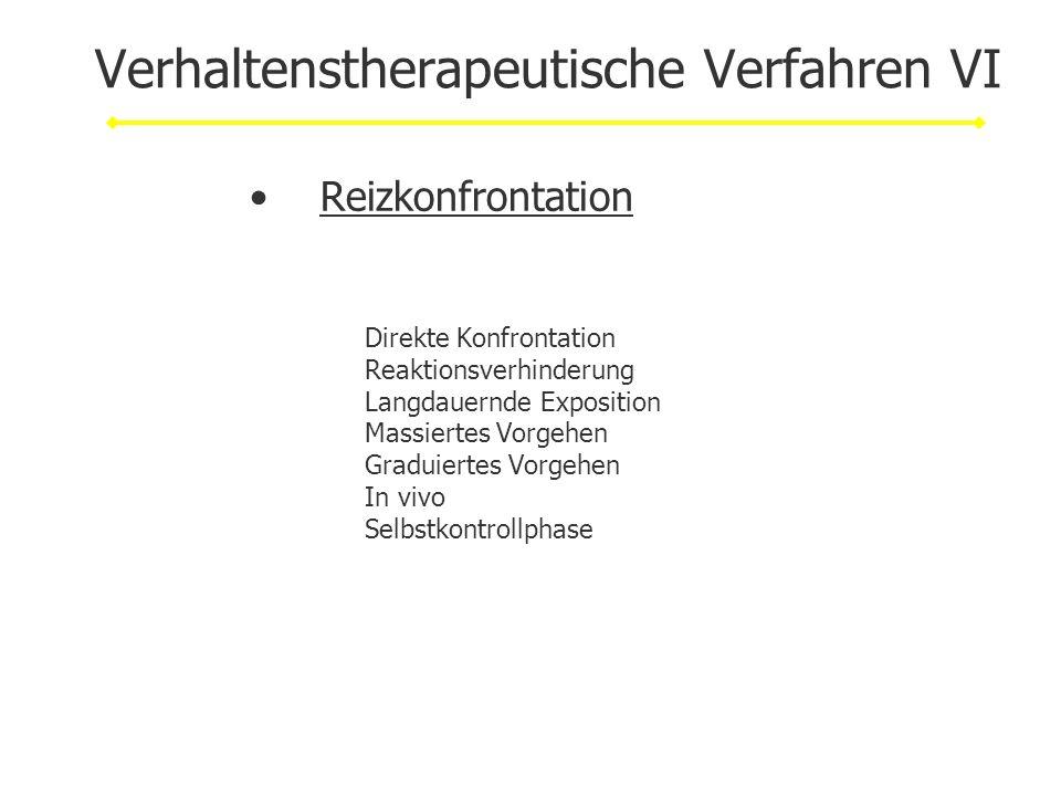 Verhaltenstherapeutische Verfahren VI
