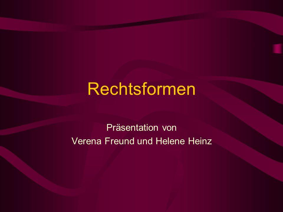 Präsentation von Verena Freund und Helene Heinz