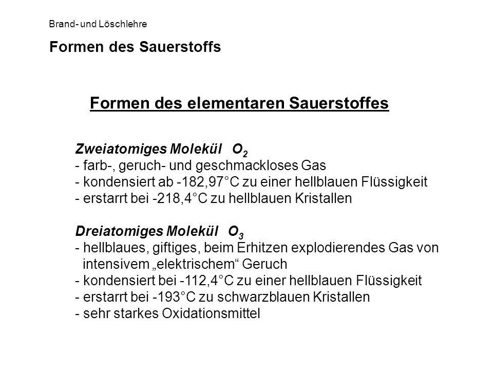 Formen des Sauerstoffs