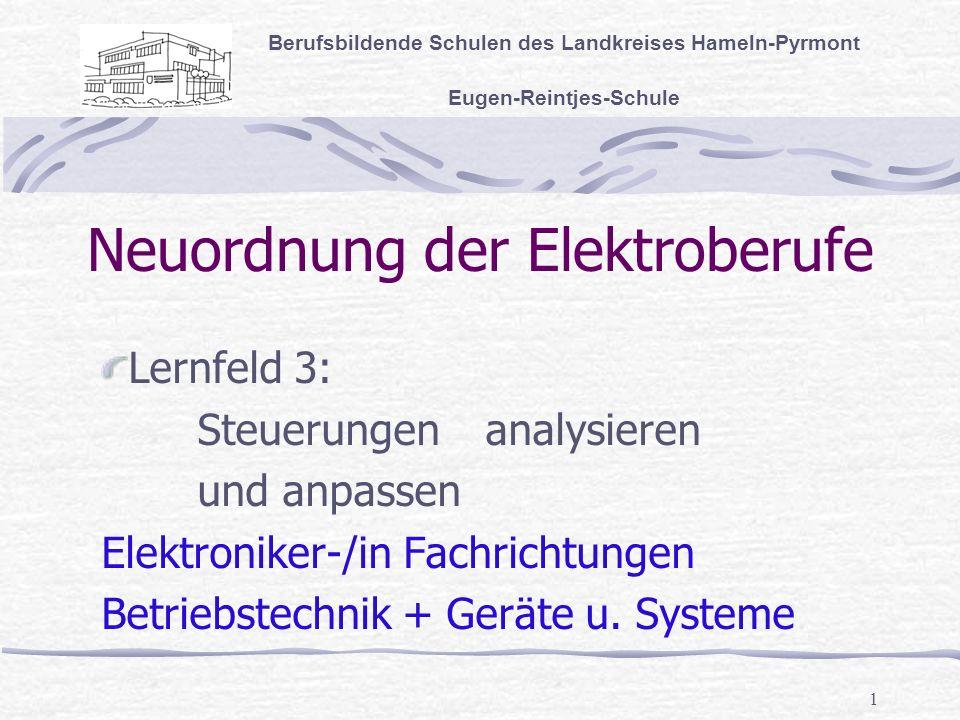 Neuordnung der Elektroberufe