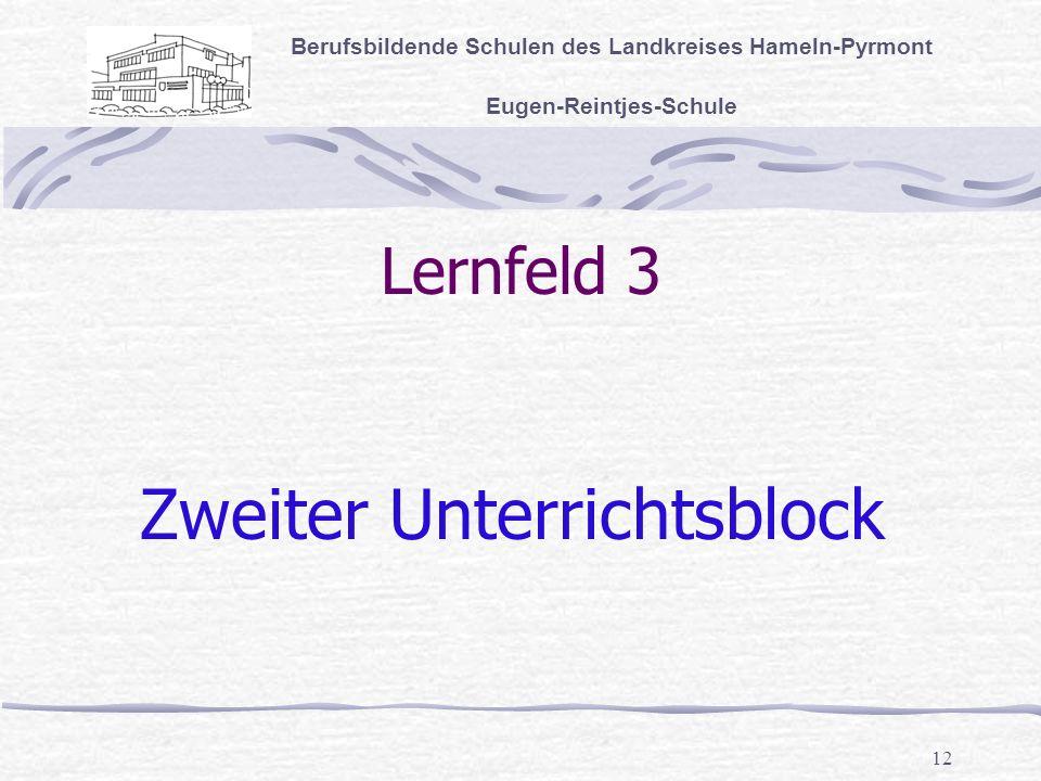 Zweiter Unterrichtsblock