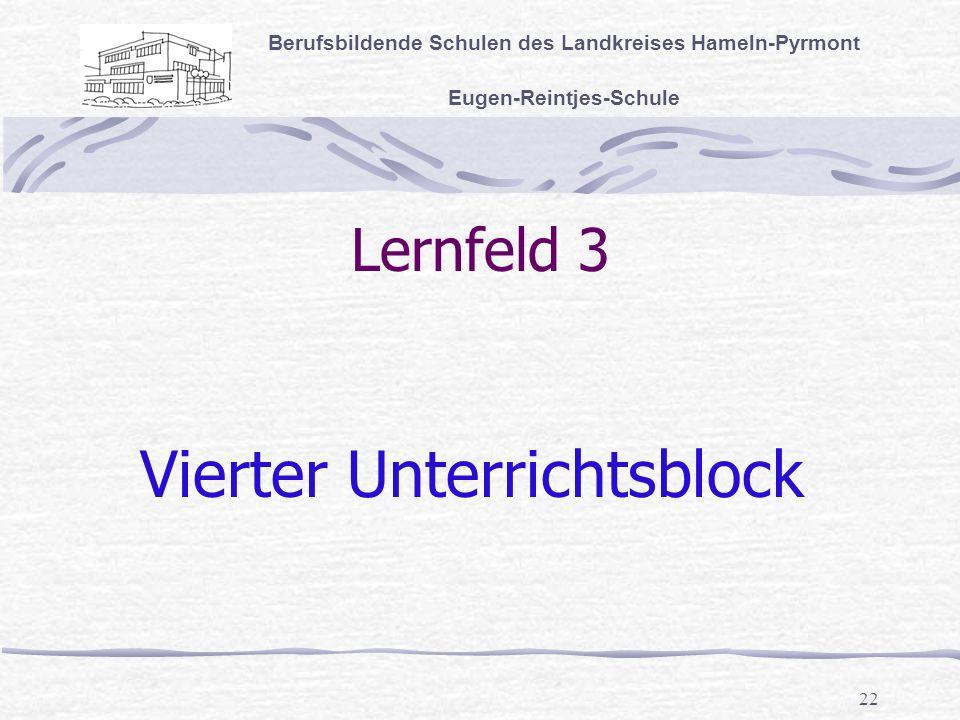 Vierter Unterrichtsblock