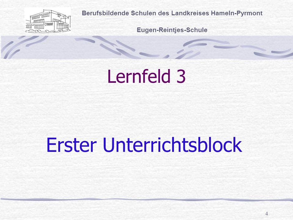 Erster Unterrichtsblock