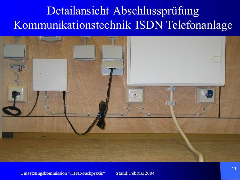 Detailmontage der Abschlussprüfung Kommunikationstechnik