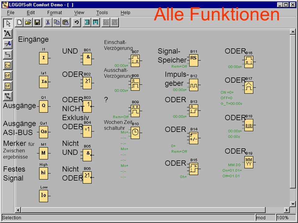 Alle Funktionen Eingänge UND Signal-Speicher ODER ODER Impuls- geber