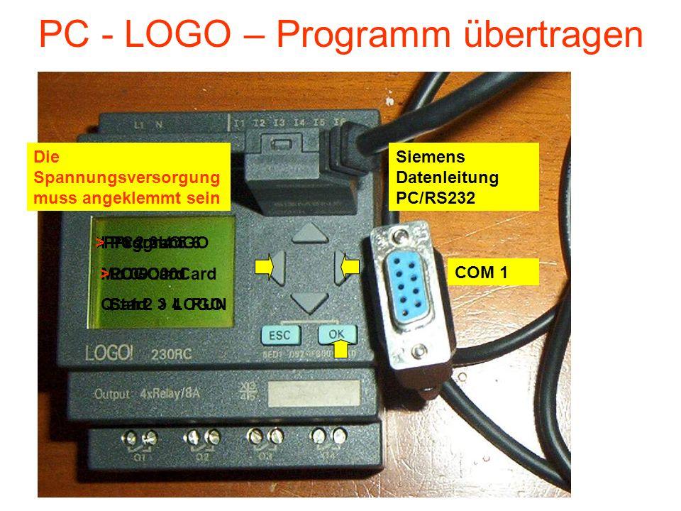 PC - LOGO – Programm übertragen