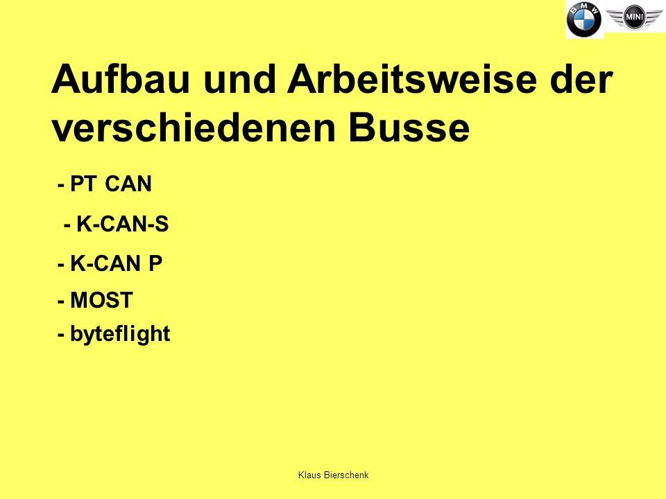 Aufbau und Arbeitsweise der verschiedenen Busse