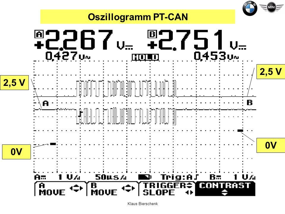 Oszillogramm PT-CAN 2,5 V 2,5 V 0V 0V