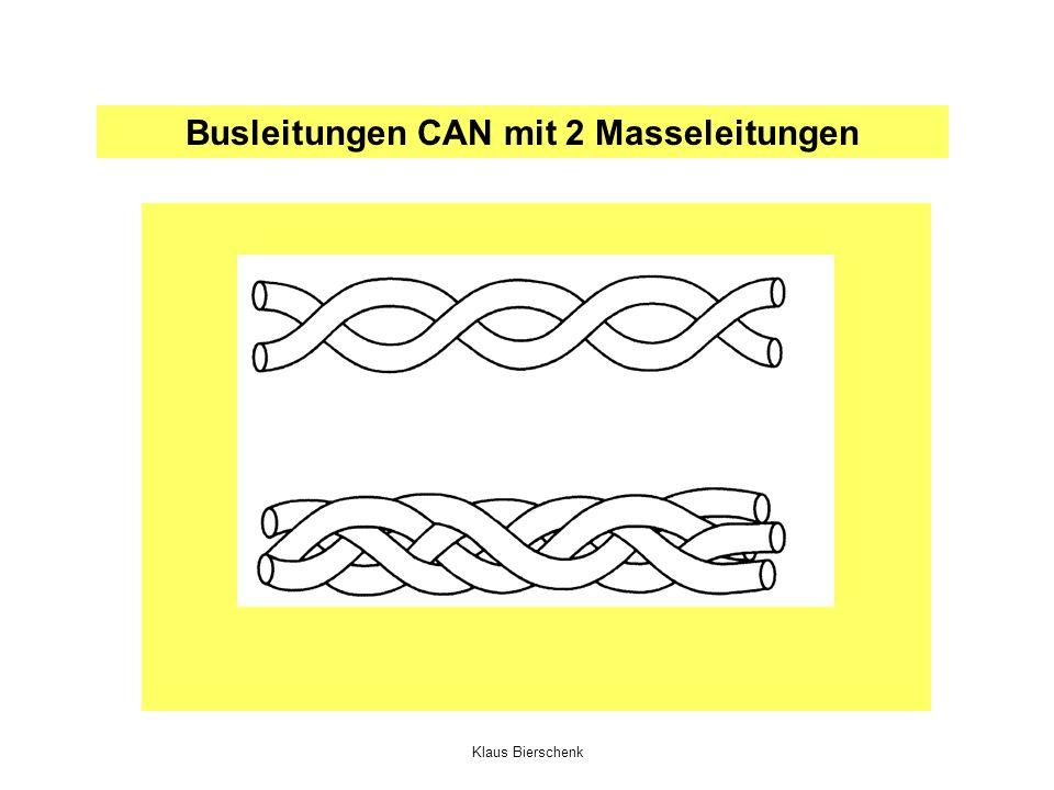 Busleitungen CAN mit 2 Masseleitungen