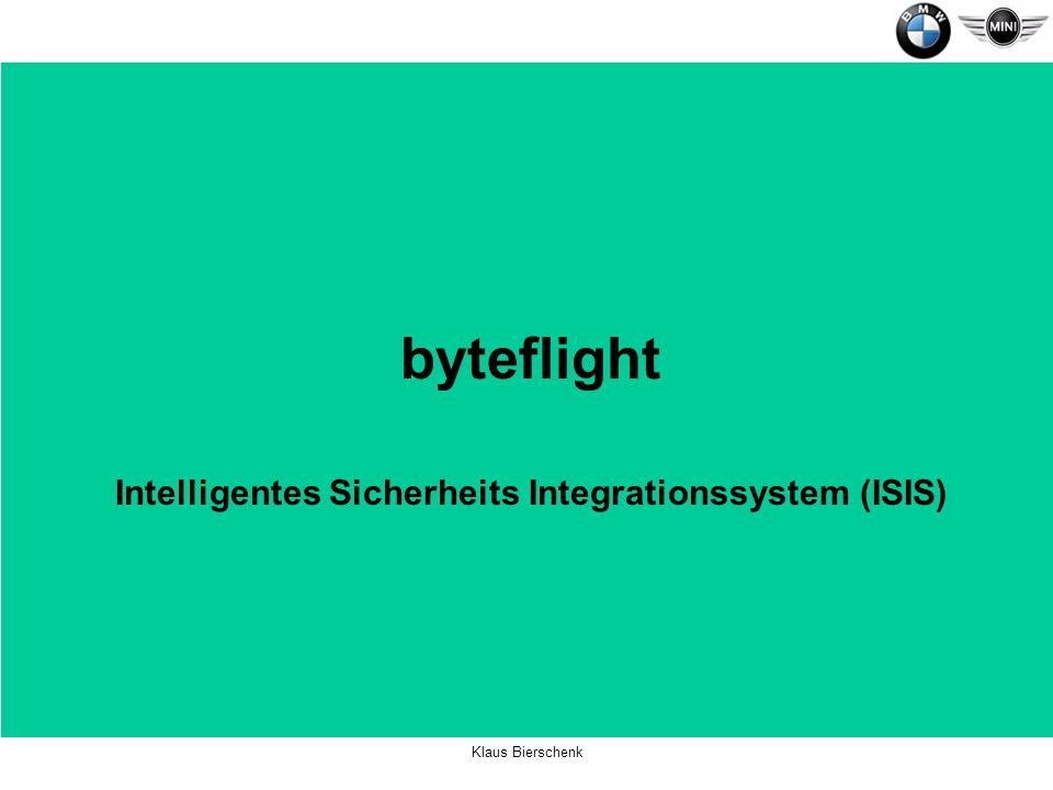 Intelligentes Sicherheits Integrationssystem (ISIS)