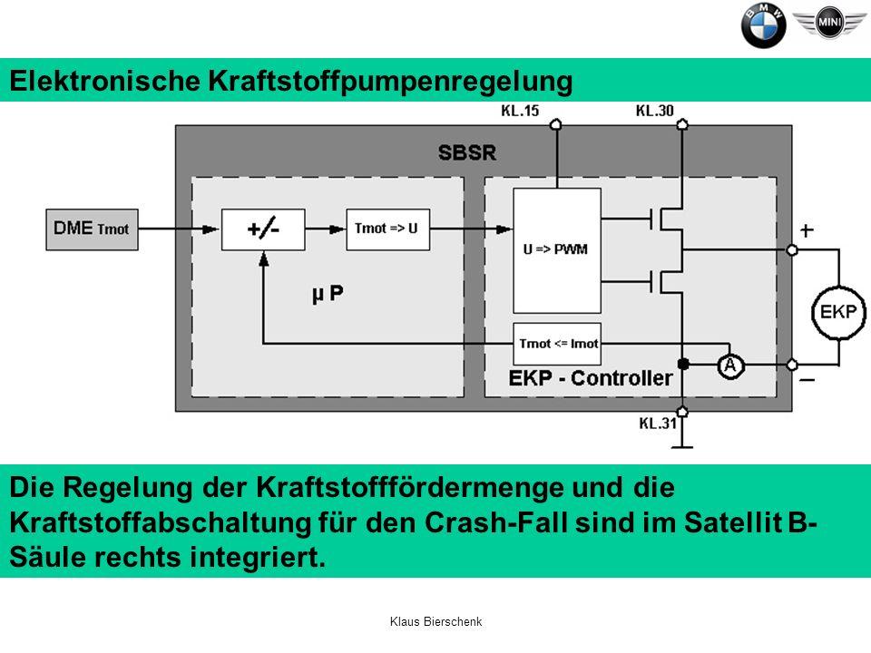 Elektronische Kraftstoffpumpenregelung