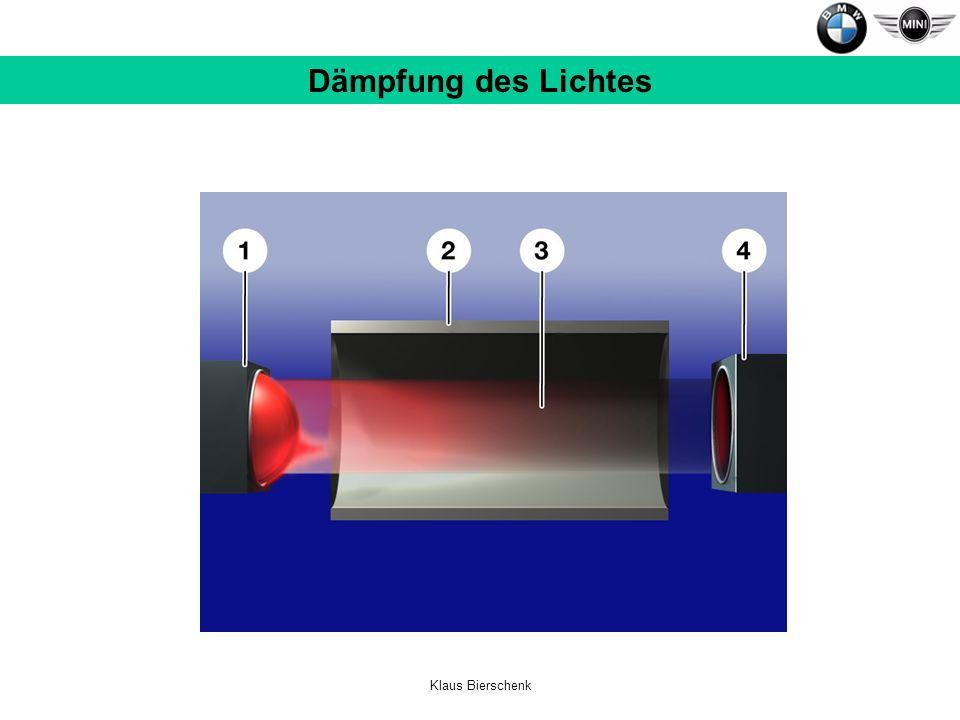 Dämpfung des Lichtes Klaus Bierschenk