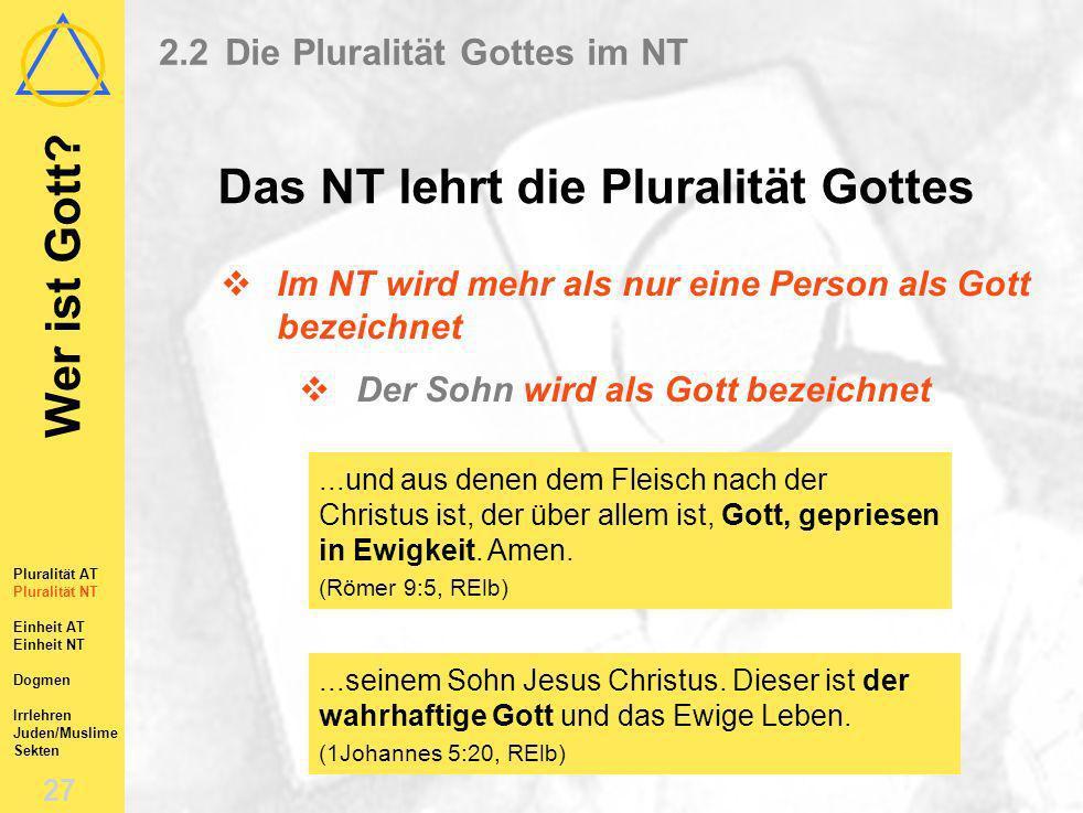 2.2 Die Pluralität Gottes im NT