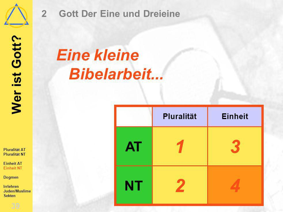 2 Gott Der Eine und Dreieine
