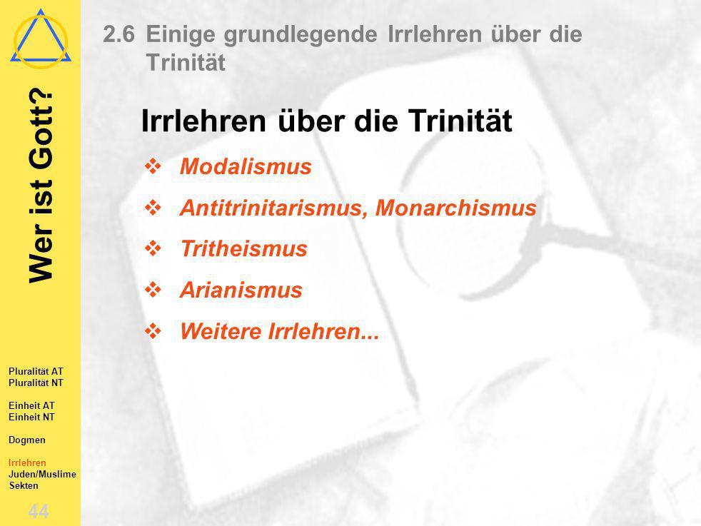 2.6 Einige grundlegende Irrlehren über die Trinität