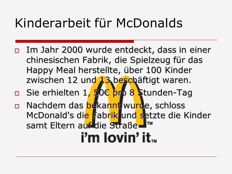 Kinderarbeit für McDonalds