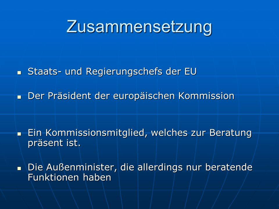 Zusammensetzung Staats- und Regierungschefs der EU