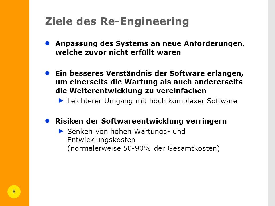 Ziele des Re-Engineering