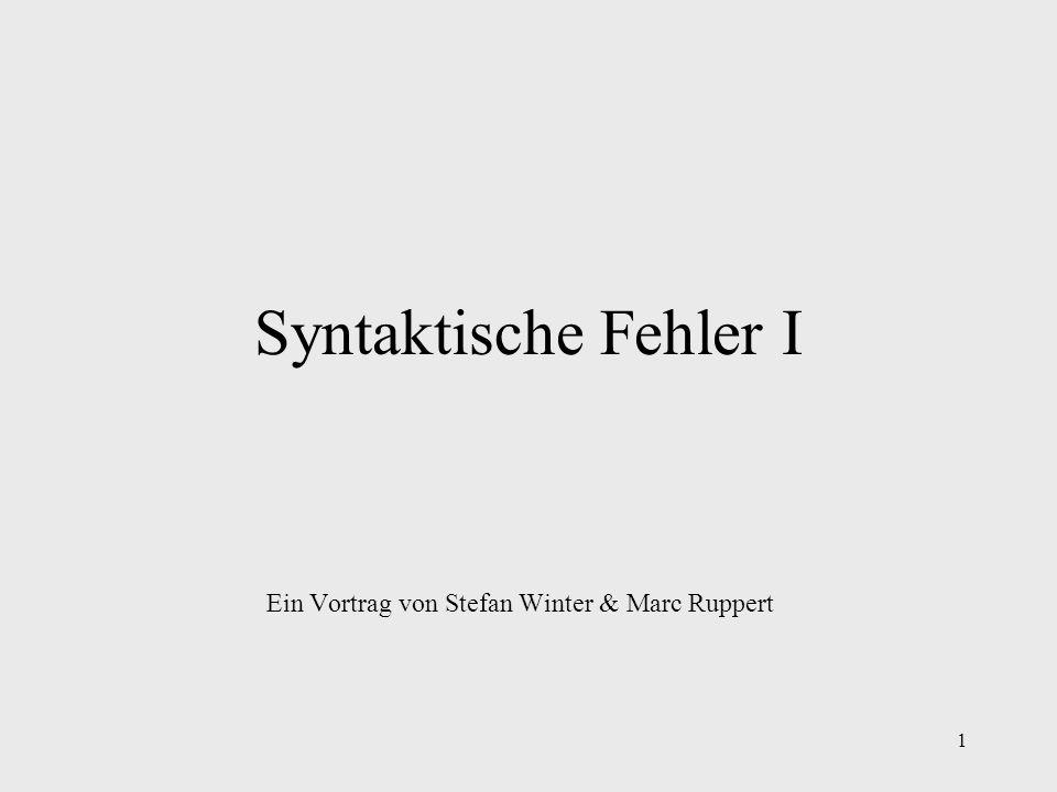 Ein Vortrag von Stefan Winter & Marc Ruppert