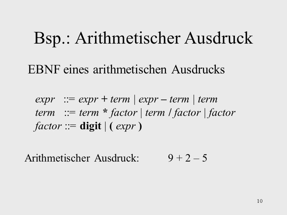 Bsp.: Arithmetischer Ausdruck