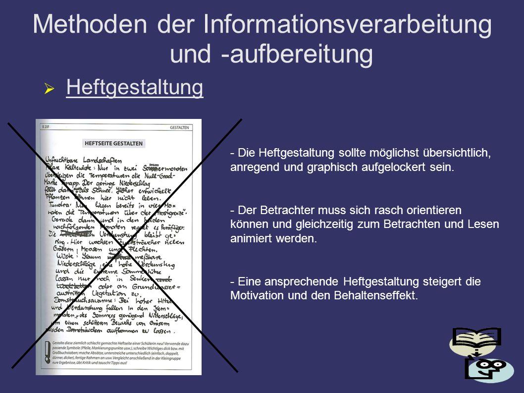 Methoden der Informationsverarbeitung und -aufbereitung
