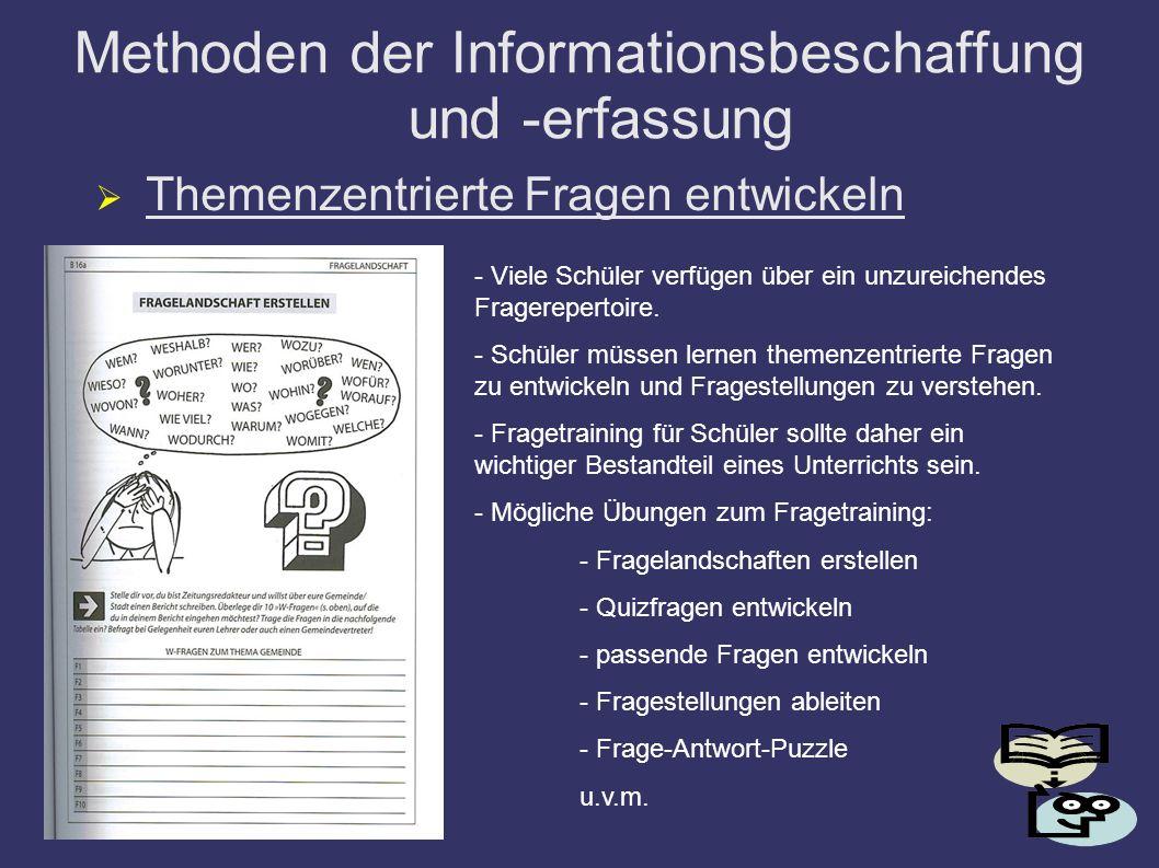 Methoden der Informationsbeschaffung und -erfassung