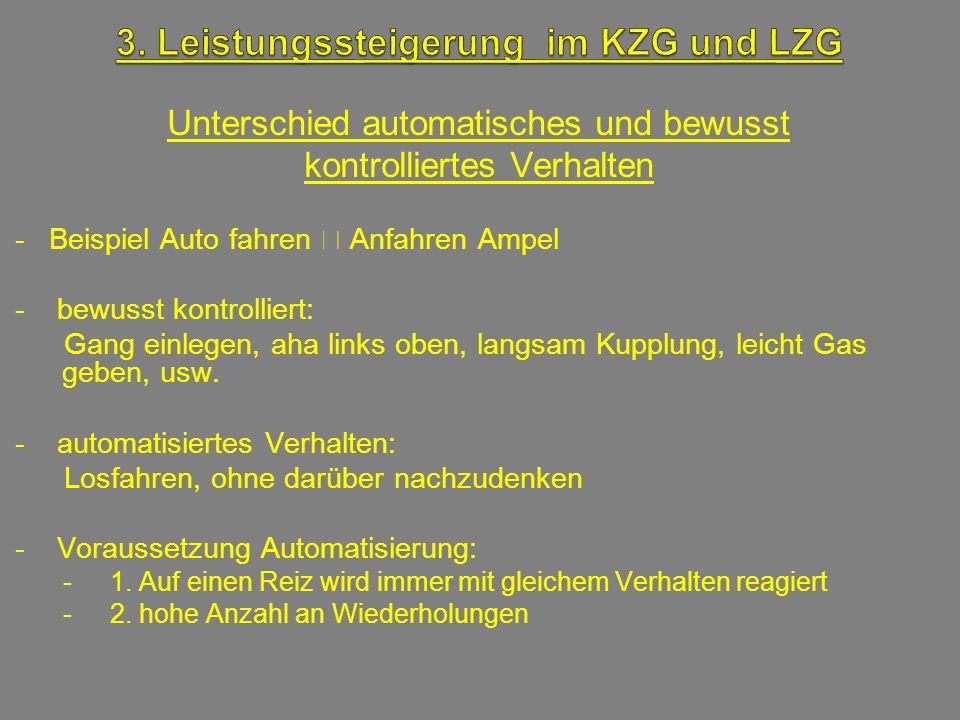 3. Leistungssteigerung im KZG und LZG