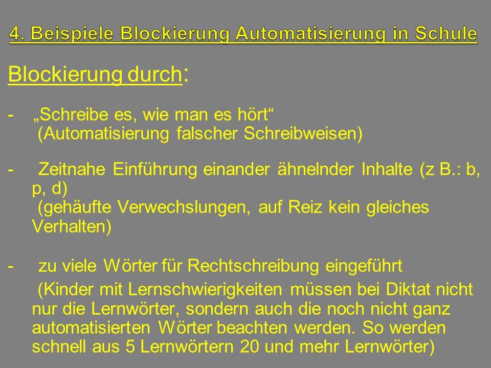 4. Beispiele Blockierung Automatisierung in Schule