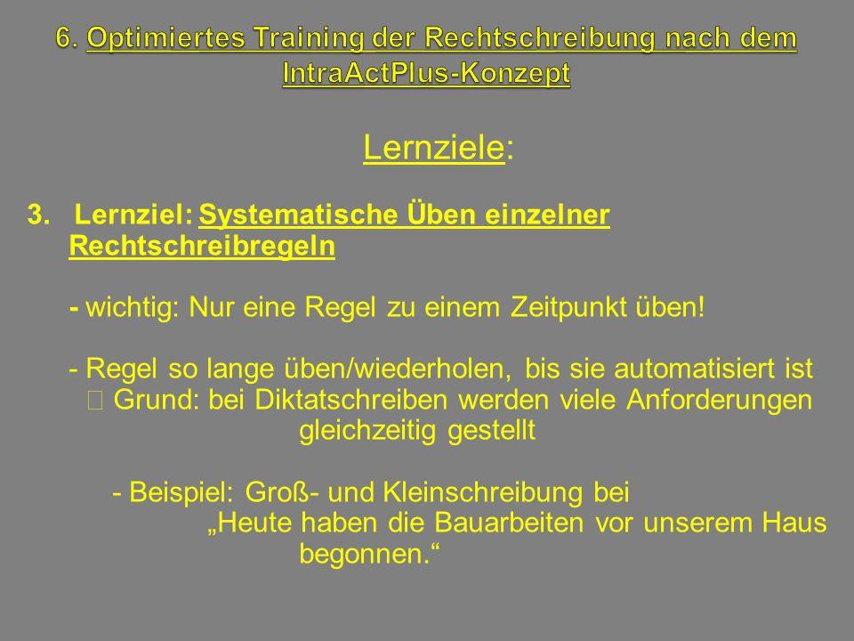 6. Optimiertes Training der Rechtschreibung nach dem IntraActPlus-Konzept
