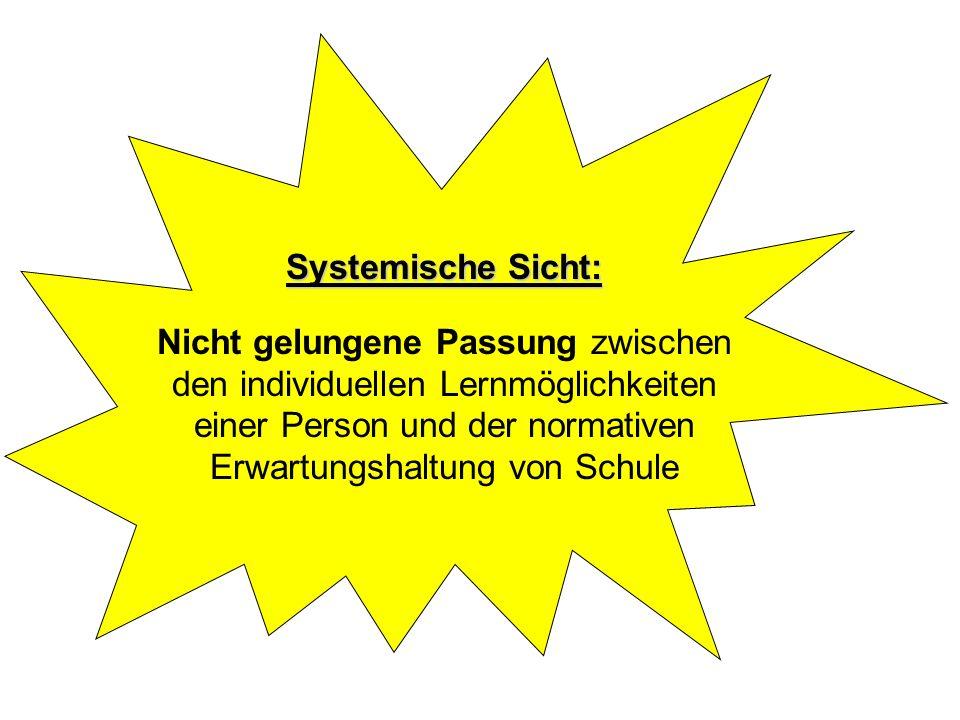 Systemische Sicht: