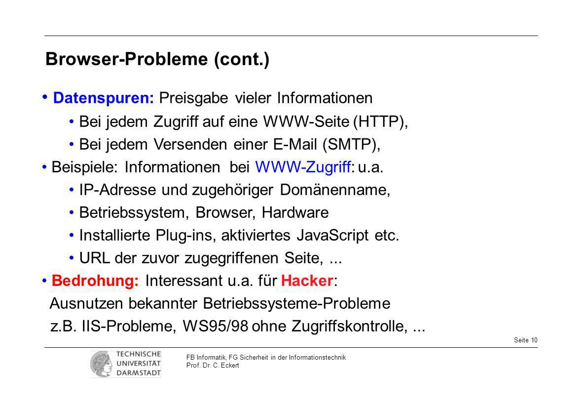 Browser-Probleme (cont.)