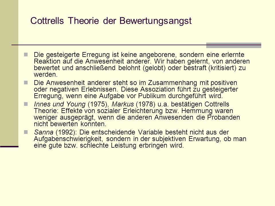 Cottrells Theorie der Bewertungsangst