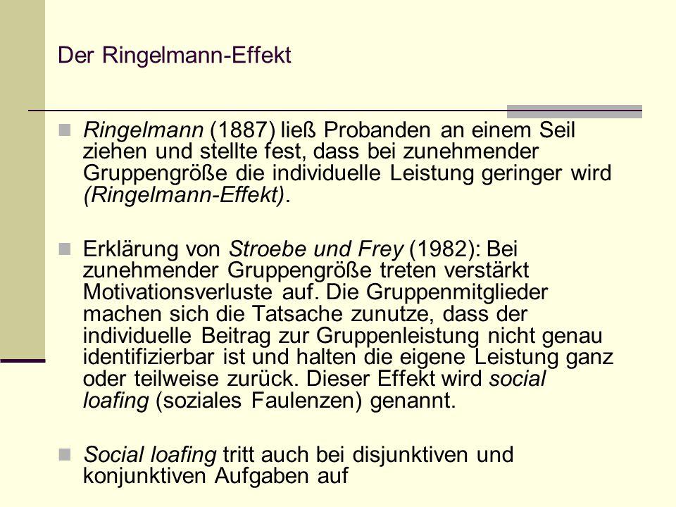 Der Ringelmann-Effekt