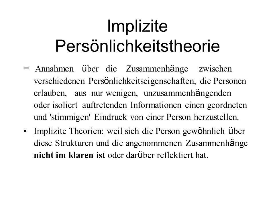Implizite Persönlichkeitstheorie