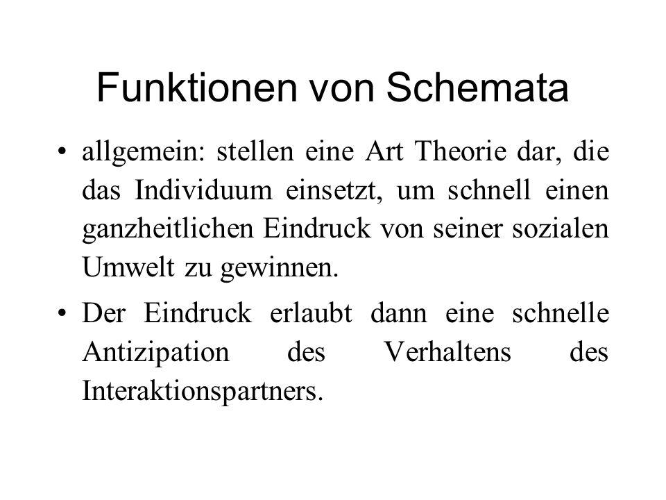 Funktionen von Schemata
