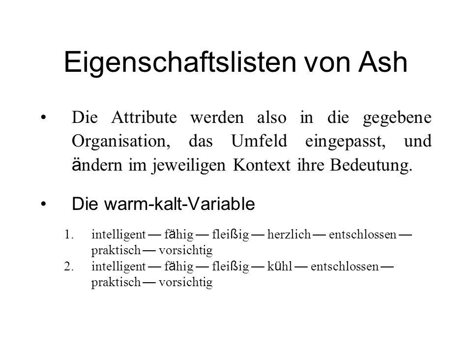 Eigenschaftslisten von Ash