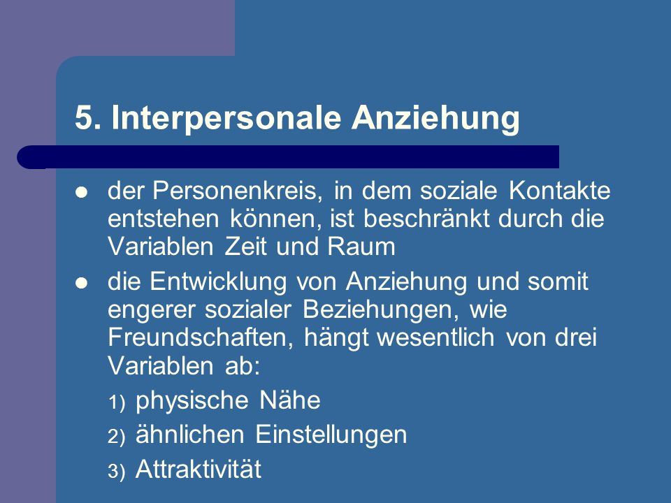 5. Interpersonale Anziehung