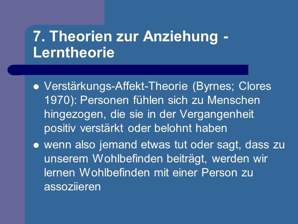 7. Theorien zur Anziehung - Lerntheorie