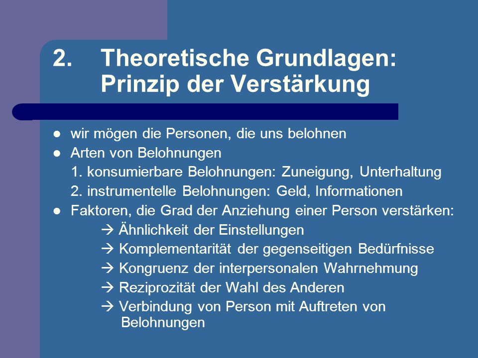 2. Theoretische Grundlagen: Prinzip der Verstärkung