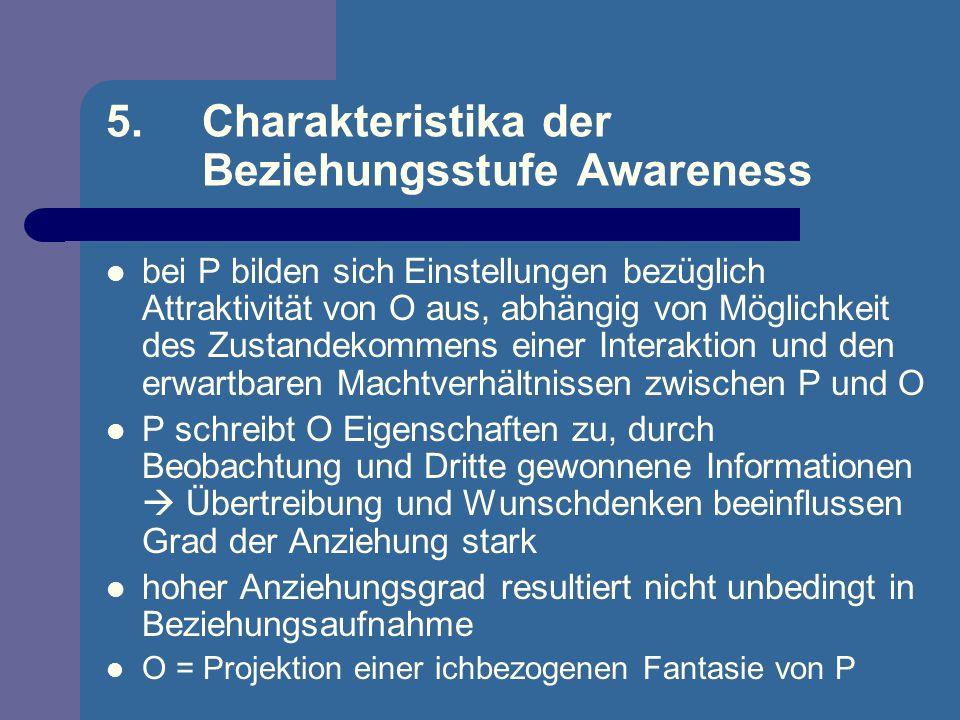 5. Charakteristika der Beziehungsstufe Awareness